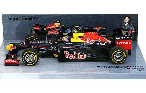 レッドブル レーシング ルノー RB8 M・ウェバー 2012 (1/43 ミニチャンプス410120002)