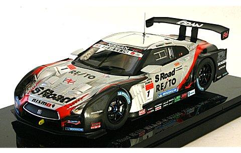 S ロード REITO MORA GT-R ローダウンフォース スーパーGT500 2012 No1 (1/43 エブロ44852)