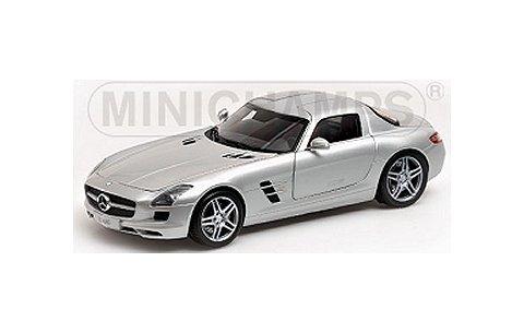 メルセデスベンツ SLS AMG 2010 シルバー (1/18 ミニチャンプス100039026)