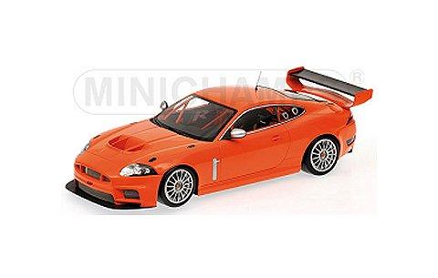 ジャガー XKR GT3 ストリート 2008 オレンジ (1/43 ミニチャンプス400081394)