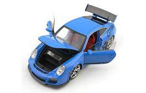ポルシェ 911 (997) GT3 RS ローズブルー フル開閉 (1/43 フロンティアートFA001-26)