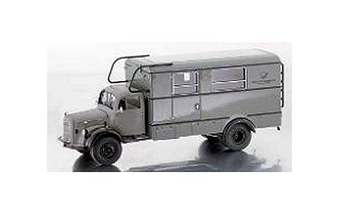 メルセデスベンツ LA3500 ボックストラック 「Fernmeldenotdienst」 グレー (1/43 プレミアムクラシックスPCS12402)