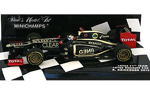 ロータス F1チーム ルノー E20 K・ライコネン 2012 (1/43 ミニチャンプス410120009)