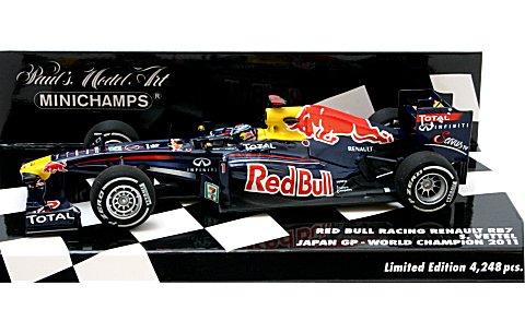 レッドブル レーシング ルノー RB7 S・ベッテル 日本GP ワールドチャンピオン 2011 (1/43 ミニチャンプス410110301)