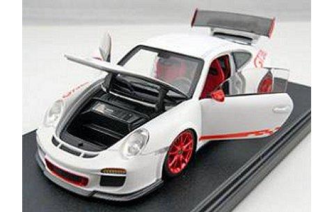 ポルシェ 911 (997) GT3RS マットホワイト フル開閉 (1/43 フロンティアートFA001-03)