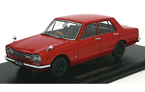 ニッサン スカイライン GT-R (PGC10/4ドア/エンジン付) レッド (1/43 京商K05510R)