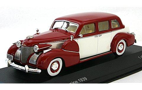 キャデラック シリーズ 75 フリートウッド V8 セダン 1939 ダークレッド/ホワイト (1/43 ホワイトボックスWB022)