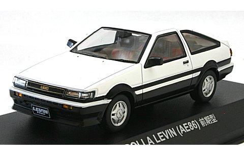 トヨタ AE86 レビン GT APEX 3ドア 前期型 ホワイト/ブラック (1/43 京商K03761W)