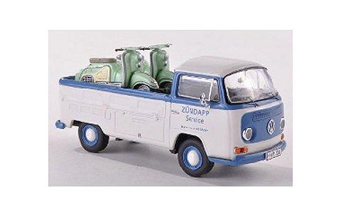 フォルクスワーゲン T2a トラック ホワイト/ブルー Zundapp Bellaバイク2台積載 (1/43 プレミアムクラシックスPCS11357)