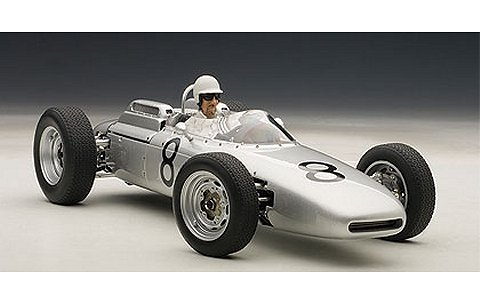 ポルシェ 804 F1 1962 No8 ドイツGP ヨアキム・ボニエ (ドライバーフィギュア付き・世界1000台限定) (1/18 オートアート86274)