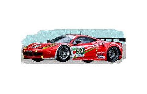 2012 フェラーリ 458 イタリア GTE Pro No59 Team Luxury Racing ルマン24h GTE Pro 2位 (1/43 フジミFJM1343002)