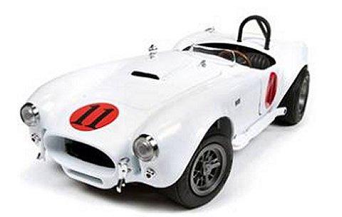 シェルビー コブラ 1965 E・プレスリー 「Spin out」 劇中車 ホワイト (1/18 アメリカンマッスルAWSS104)