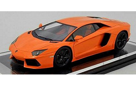ランボルギーニ アヴェンタドール LP700-4 オレンジ フル開閉 (1/18 フロンティアートFA005-09)