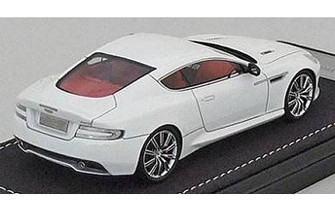 アストンマーチン DB9 クーペ ホワイト (1/43 フロンティアートF020-02)