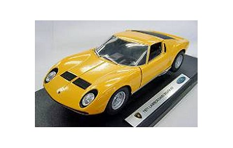 ランボルギーニ ミウラ P400SV 1971 イエロー (1/18 ウエリーWE18017Y)