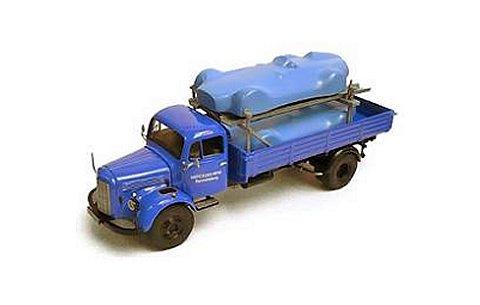 メルセデス L3500 パレットトラック (カバー付メルセデスベンツ2台搭載) (1/43 プレミアムクラシックスPCS12459)