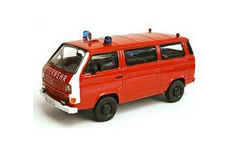 フォルクスワーゲン T3-b バス 消防隊 レッド/ホワイト (1/43 プレミアムクラシックスPCS13055)