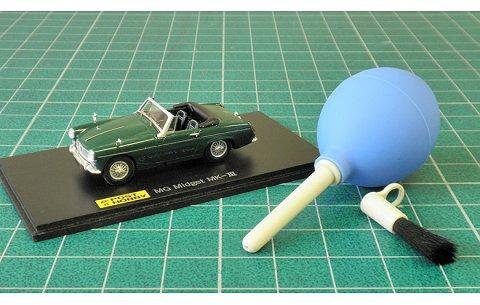 ミニカー ブロアーブラシ ブルー (ポストホビーPMP004BL)