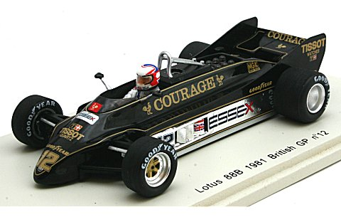ロータス 88B 1981 英国GP No12 ナイジェル・マンセル (1/43 プラネックスコレクション2687)