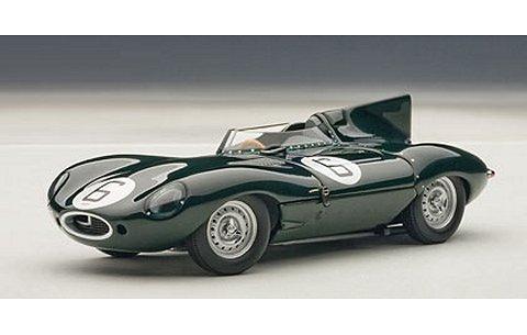 ジャガー Dタイプ ルマン24時間 優勝車 1955 No6 ホーソン/ビューブ (1/43 オートアート65586)
