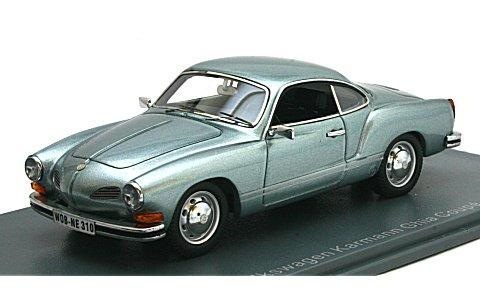 フォルクスワーゲン カルマンギア クーペ (Typ14) 1974 Mブルー (1/43 ネオNEO44310)