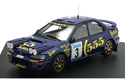 スバル インプレッサ 1996 ラリー・スウェーデン (ナイトポット付) D・オリオール (1/43 トロフューKBT003)