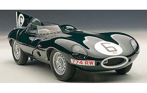 ジャガー Dタイプ ルマン24時間優勝車 1955 No6 (マイク・ホーソン/アイバー・ビューブ) (1/18 オートアート85586)
