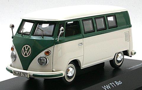 フォルクスワーゲン T1 バス グリーン/ホワイト (1/43 シュコー450260900)