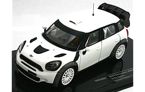 ミニ カントリーマン JCW WRCラリー仕様 (ホイールとタイヤ2セット) ホワイト (1/43 イクソMDCS003)