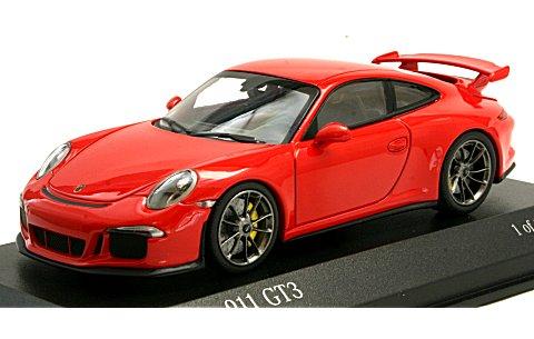 ポルシェ 911 (991) GT3 2012 レッド (1/43 ミニチャンプス410062020)