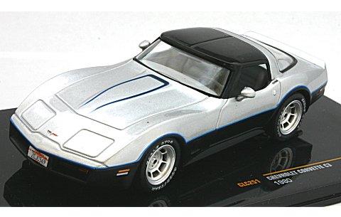 シボレー コルベット C3 1980 シルバー /ブラック (1/43 イクソCLC251)