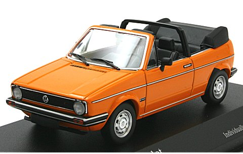 フォルクスワーゲン ゴルフ カブリオレ 1980 オレンジ (1/43 ミニチャンプス400055131)