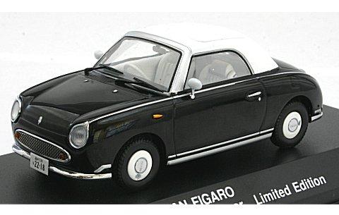 相棒×日産 フィガロ ブラック 右京ミニカー (1/43 京商K03392BK)