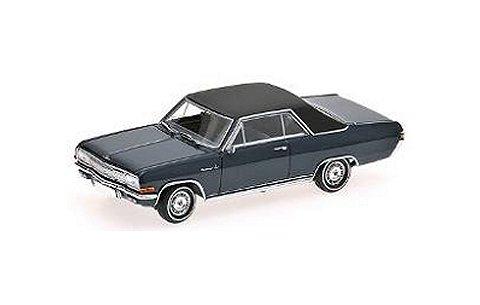 オペル DIPLOMAT V8 クーペ 1965 ブルー (1/43 ミニチャンプス400048021)