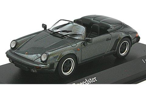 ポルシェ 911 スピードスター 1988 グレーM (1/43 ミニチャンプス430066135)