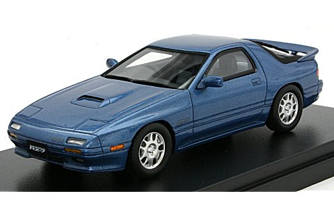 マツダ サバンナ RX-7 GT-X 1989 ハーバーブルーM (1/43 ハイストーリーHS081BL)