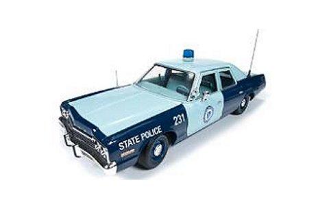 ダッジ モナコ 1974 マサチューセッツ州警察パトカー (1/18 アメリカンマッスルAMM1023)