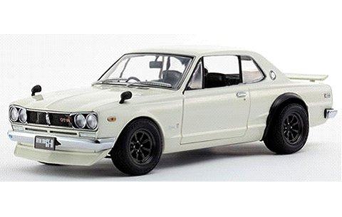 ニッサン スカイライン 2000GT-R with Fスポイラー/RSワタナベ ホワイト (1/18 京商KS08128W)