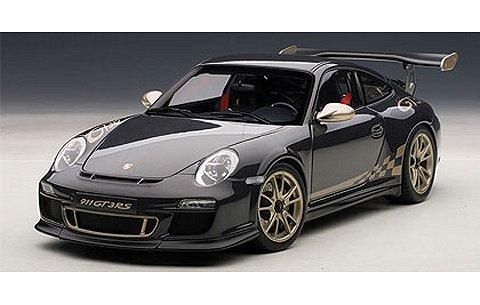 ポルシェ 911 (997) GT3RS 3.8 グレー/ゴールドストライプ (1/18 オートアート78142)