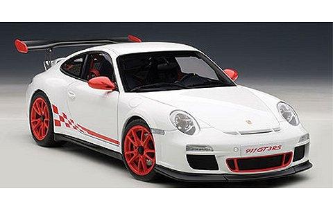 ポルシェ 911 (997) GT3RS 3.8 ホワイト/レッドストライプ (1/18 オートアート78143)