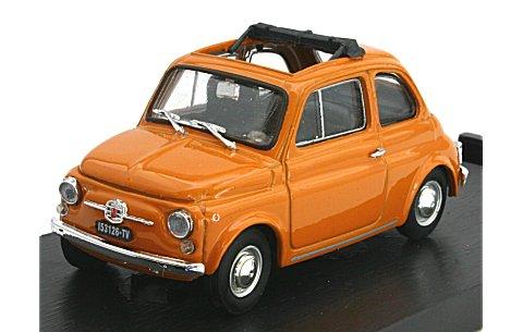 フィアット 500F 1965-72 オープントップ イエロー (1/43 ブルムR454-13)