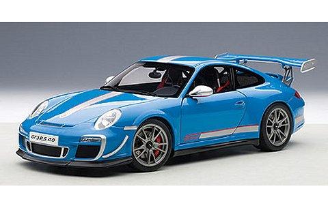 ポルシェ 911 (997) GT3RS 4.0 ブルー (1/18 オートアート78145)
