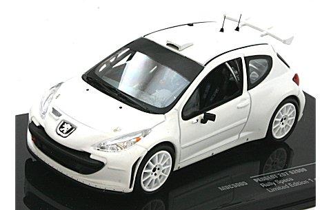 プジョー 207 2011 ラリー仕様 (ホイールとタイヤ2セット) ホワイト (1/43 イクソMDCS005)