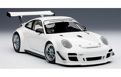 ポルシェ 911 (997) GT3 R 2010 プレーンボディ ホワイト (1/18 オートアート81070)
