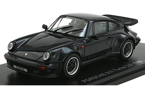 ポルシェ 911 ターボ 3.3 ダークブルー (1/43 京商KS05525DB)
