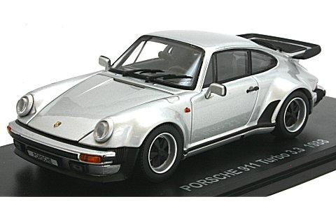 ポルシェ 911 ターボ 3.3 シルバー (1/43 京商KS05525S)