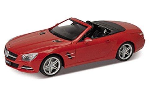 メルセデスベンツ SL500 コンバーチブル 2012 レッド (1/18 ウエリーWE18046CR)