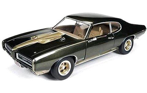 1969 ポンティアック GTO ハードトップ ブラウン/ゴールド Royal Bobcat/Pontiac (1/18 アメリカンマッスルAMM1042)
