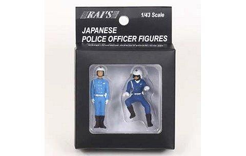 警察官フィギュア 交通取締自動二輪車 男性隊員 (2type set) (1/43 レイズH7-43F1)