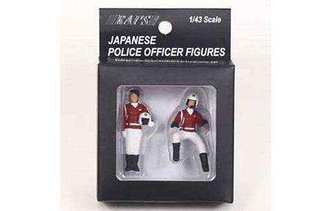 警察官フィギュア 交通取締自動二輪車 女性隊員 (2type set) (1/43 レイズH7-43F2)